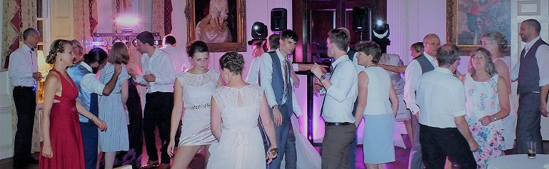 dj gavin vaclavik wedding recection at hintlesham hall