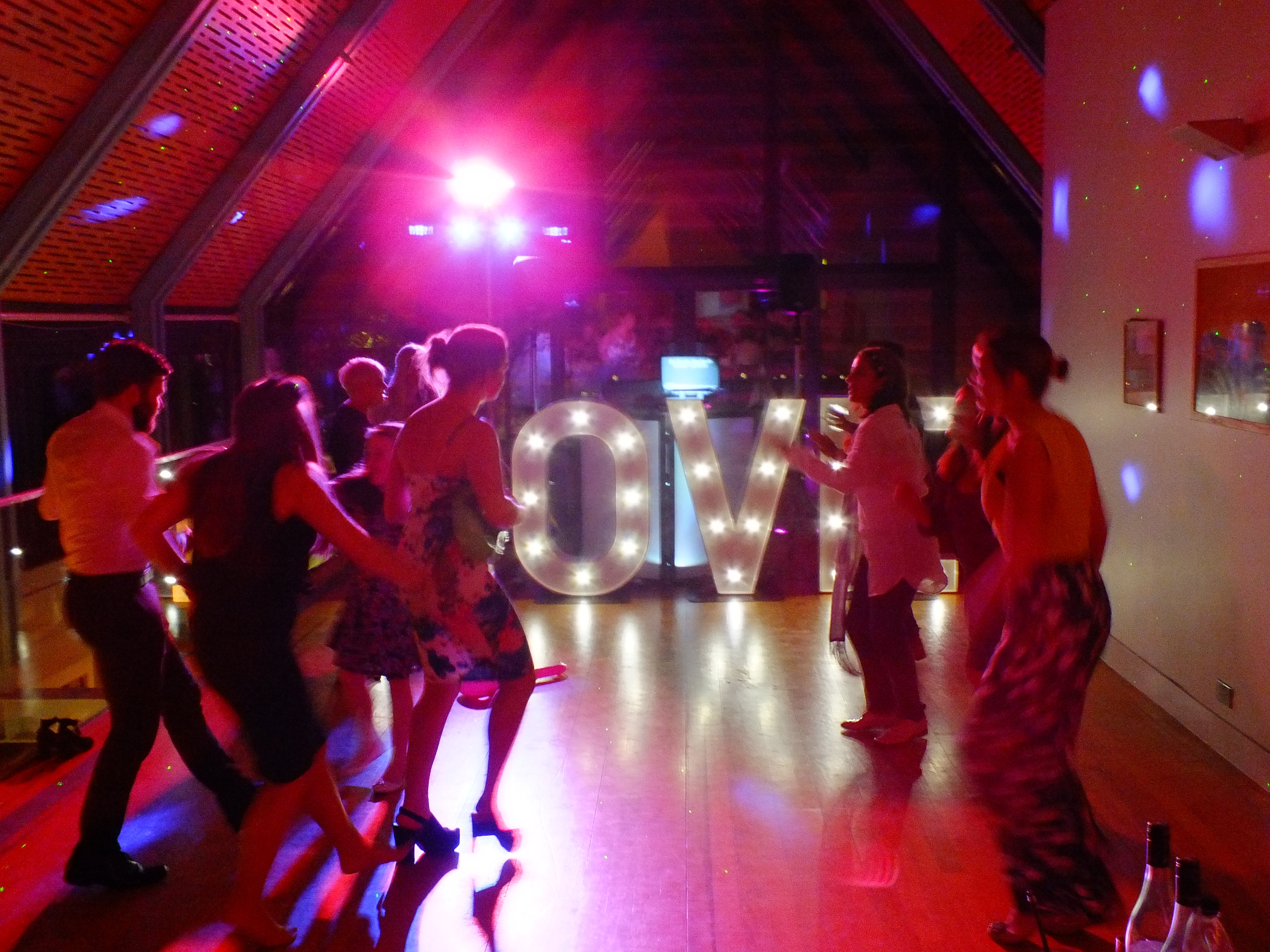giant love letters hire ad sparkle to your wedding from DJ: Gavin Vaclavik