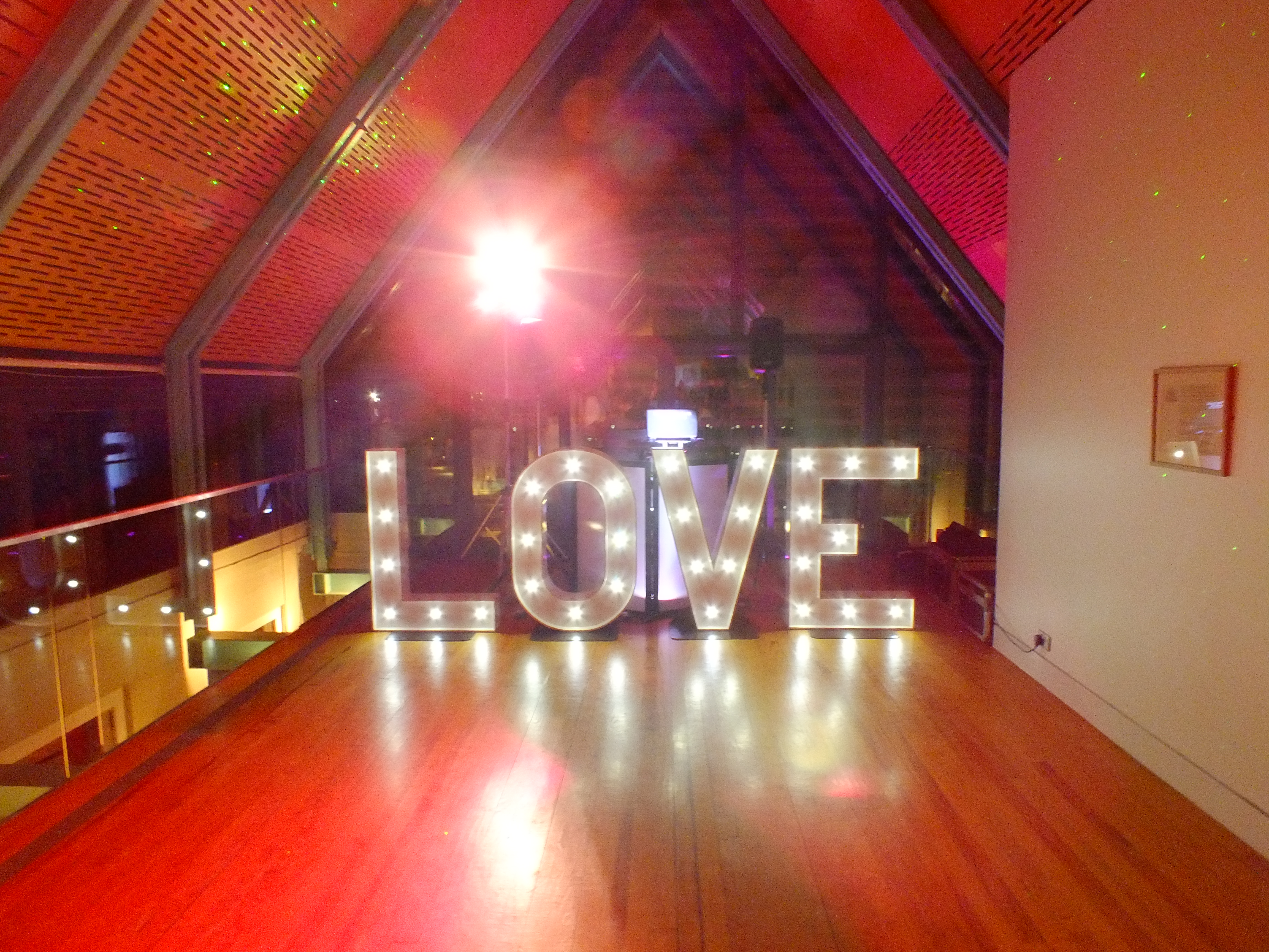 giant love letters hire from DJ: Gavin Vaclavik