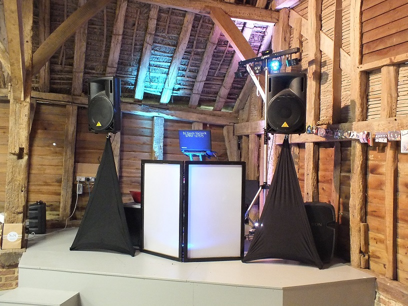 smaller dj set up
