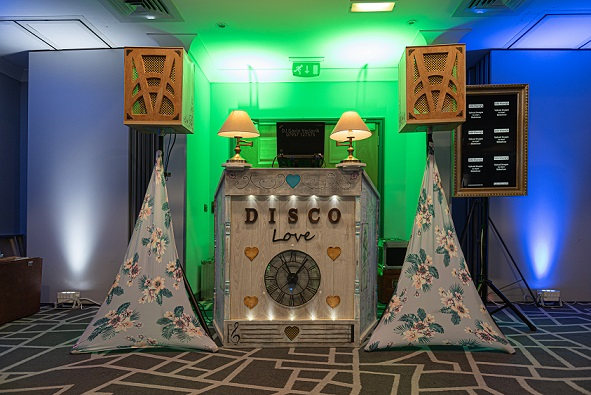 shabby chic disco booth from DJ Gavin Vaclavik