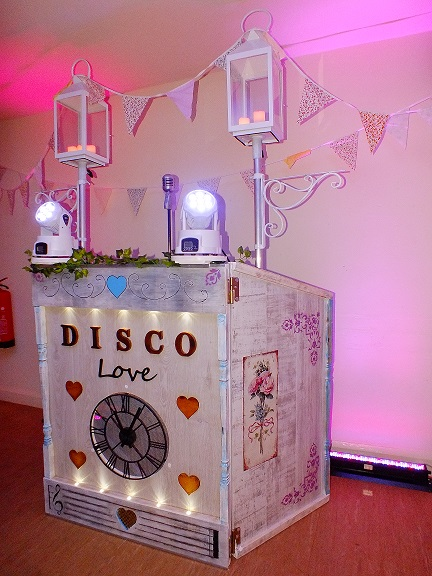 shabby chic retro themed disco booth from DJ Gavin Vaclavik
